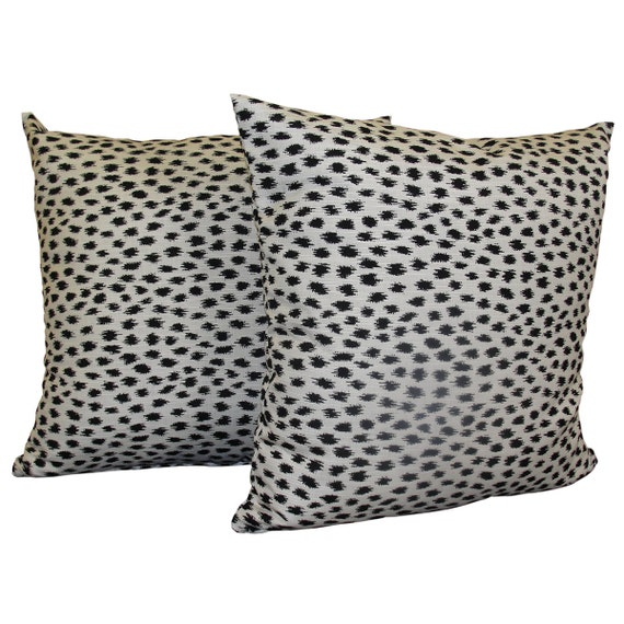 SET OF 2 Sunbrella AGRA   Sunbrella Throw Pillow Covers   Animal Print  Pillows   Cheetah Print Pillows   Indoor U0026 Outdoor   Sunbrella Fabric