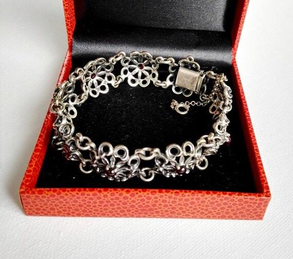 Antique Garnet Bracelet Siber Garnet Bracelet