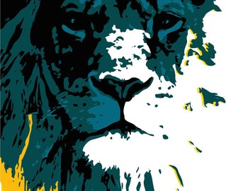 BFLYcreation Lion Print