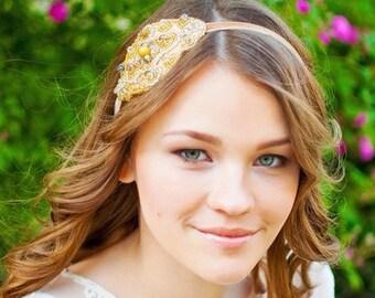 Wedding Hair Accessory, Wedding Gold Hair Piece, Wedding Headband, Bridal Hair Accessory, Bridal Headband,