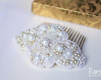 Hair Accessories, Hair Comb, White Hair Accessories, Wedding Hair Comb, White Hair Clip, White Wedding Hair Accessories, Bridal Hair Comb