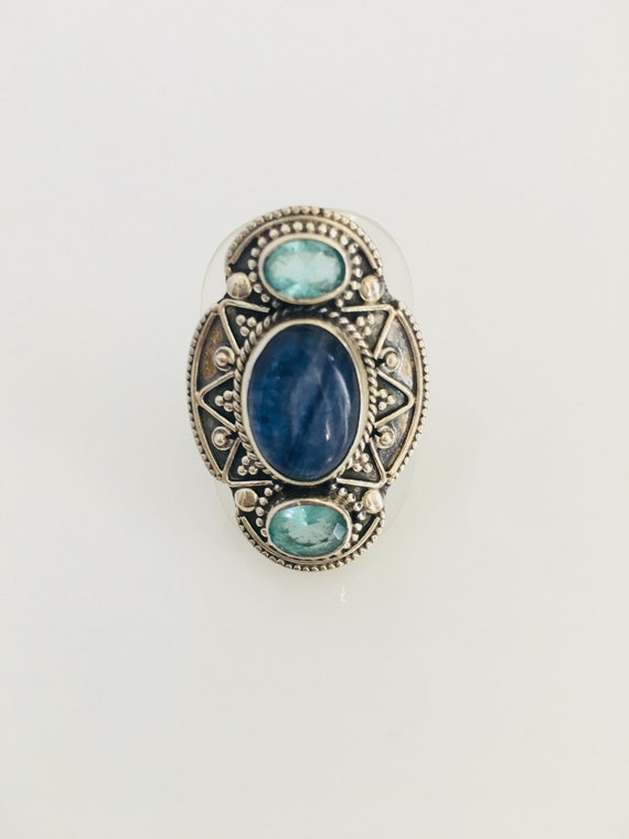 Multi stone and 925 Silver ring
