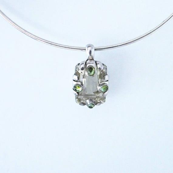 925 Silver sterling ,peridot gemstones - image 1