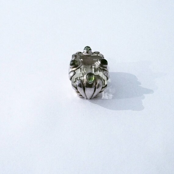 925 Silver sterling ,peridot gemstones - image 3