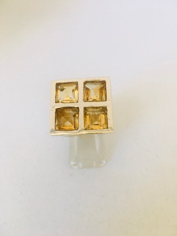 Silver ring 925 and citrine