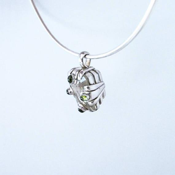 925 Silver sterling ,peridot gemstones - image 4