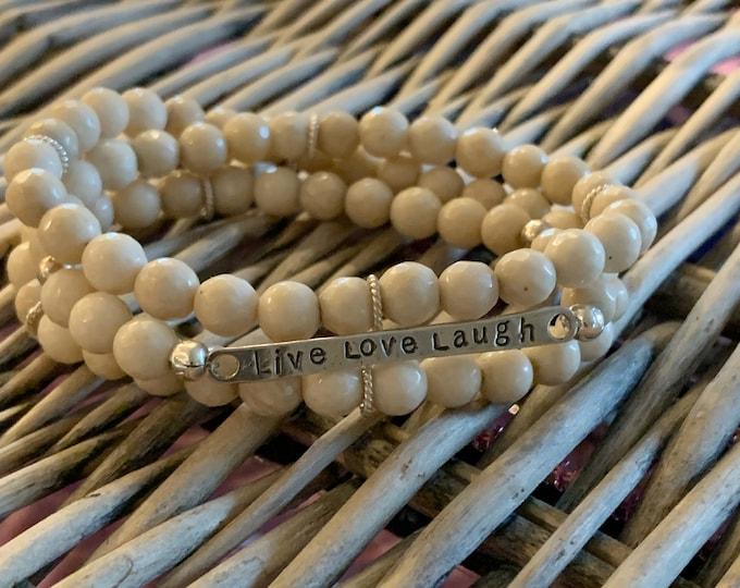 Mantra | Infinity Wrap Bracelet | Riverstone & Sterling