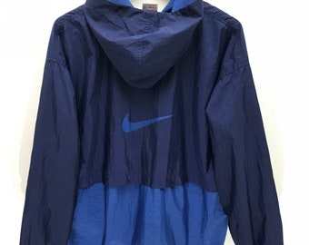 Nike Just Do It Vintage 90s Rare Nike Hoodie Windbreaker | Etsy