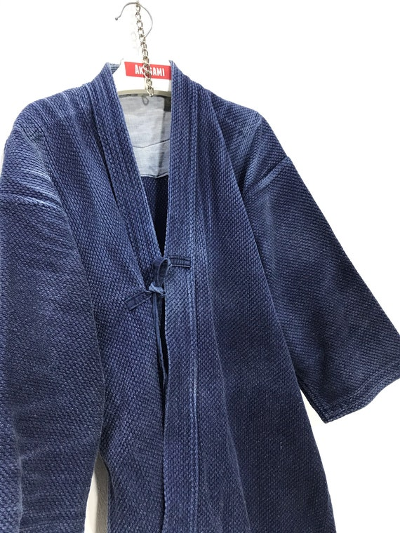 Made in Japan Vintage Kendo Jacket Indigo Blue Wov