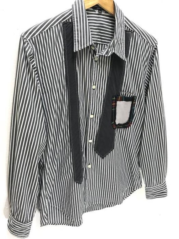 0a170a20a0d Made in Japan CDGHP Comme Des Garcons Homme Plus Striped Shirt Patchwork  Tie AD2009 Size  US M   EU 48-50   2