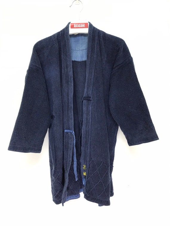 Made in Japan Vintage Kendo Jacket Blue Indigo Wov