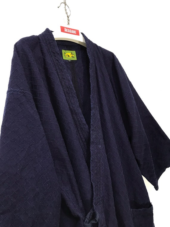 Made in Japan Kendo Noragi Jacket Indigo Blue  Wov