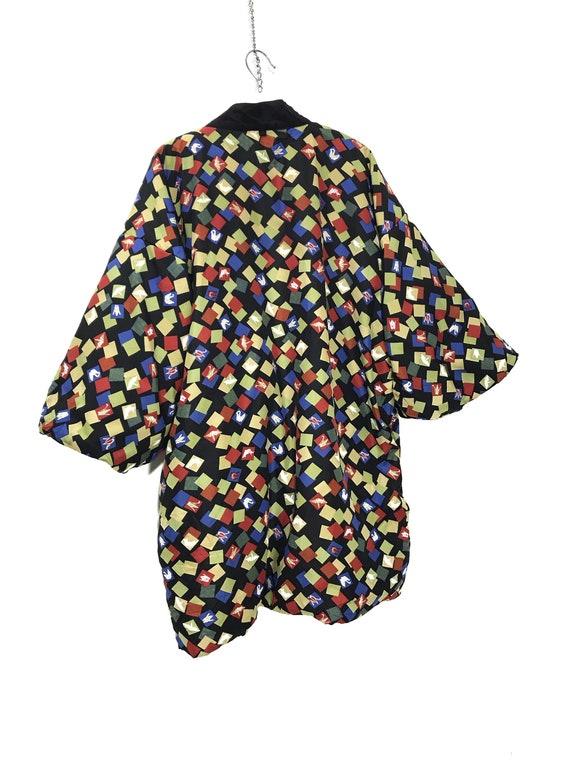 Reversible Hanten Jacket Padding Florals FullPrin… - image 10