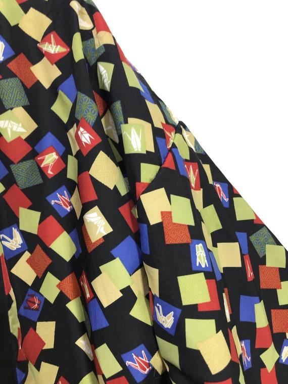 Reversible Hanten Jacket Padding Florals FullPrin… - image 9
