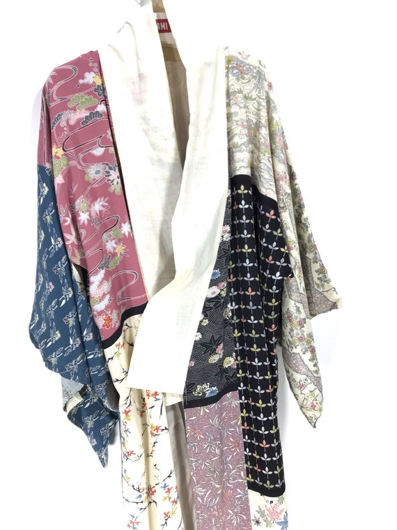 Made in Japan Vintage Kimono Yukata Silk Jacket Fl