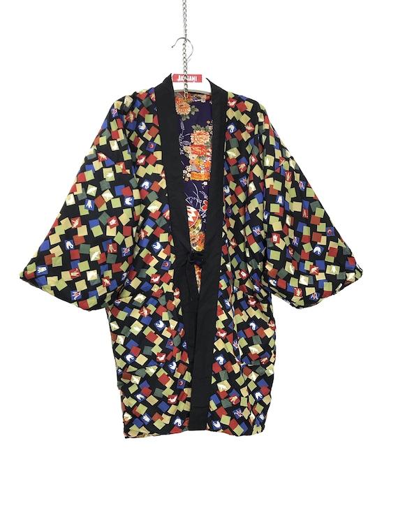 Reversible Hanten Jacket Padding Florals FullPrin… - image 7