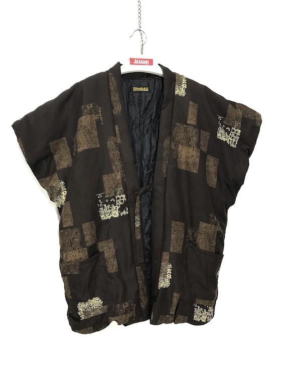 Hanten Vest Jacket Padding Patchwork Printed Multi