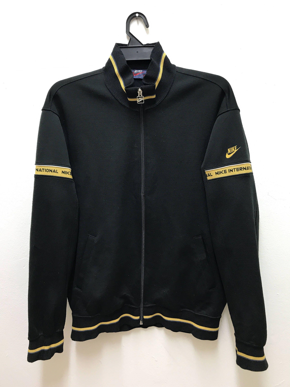 95f0973565f2 Nike Track Jacket Vintage 80s Rare Nike International Track