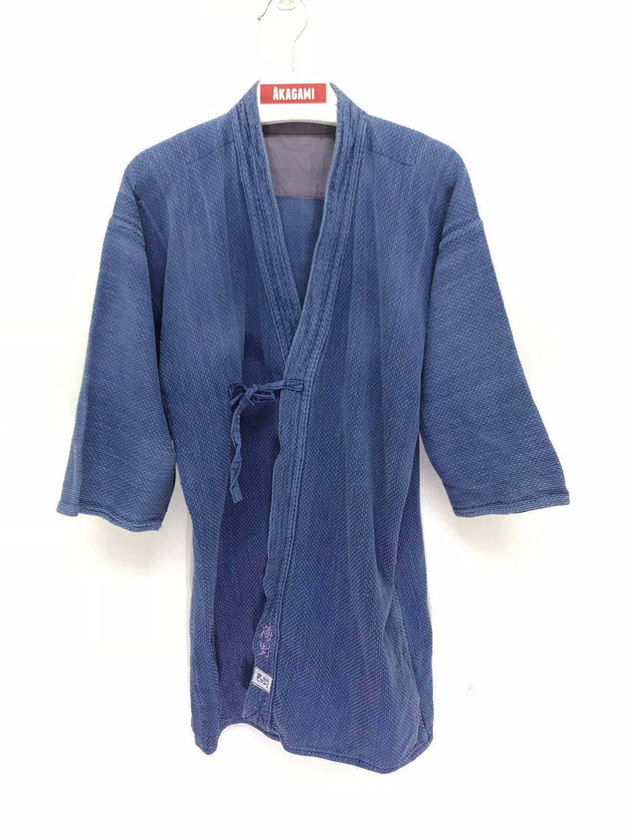 b5545df7d2faac Made in Japon Kendo Vintage veste coton tissé bleu Indigo Boro délavé  japonais Boro Indigo Ninja
