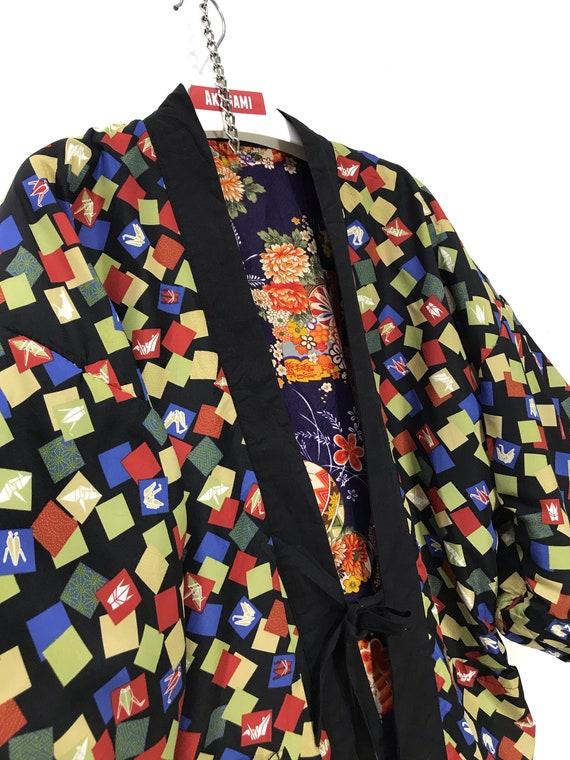 Reversible Hanten Jacket Padding Florals FullPrin… - image 6