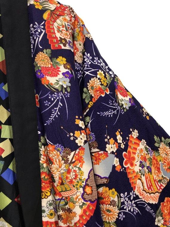 Reversible Hanten Jacket Padding Florals FullPrin… - image 4