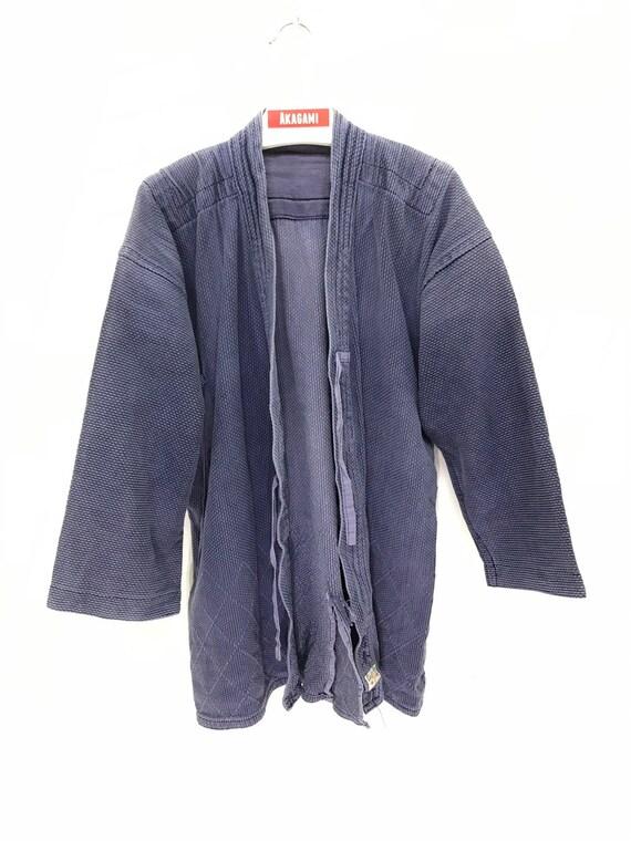 Made in Japan Vintage Kendo Jacket Indigo Blue Wov