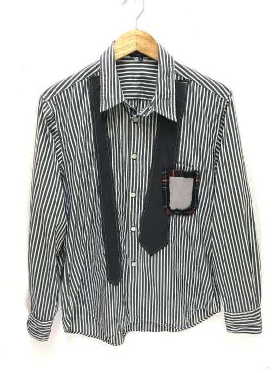 e4a80d66aca Made in Japan CDGHP Comme Des Garcons Homme Plus Striped Shirt