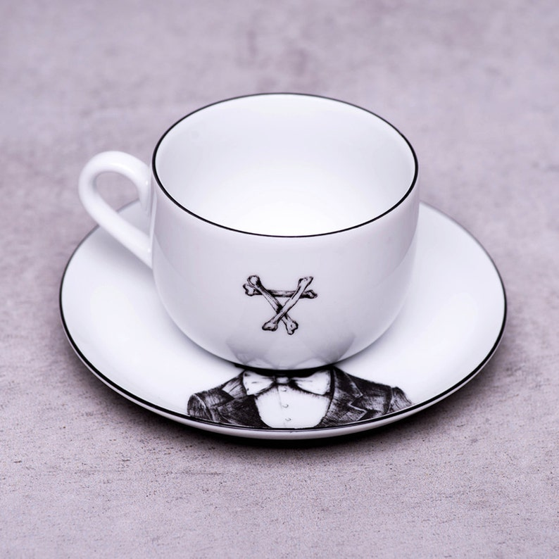French bulldog tea cup, Bulldog art, White porcelain tea set, Personalized  tea cups, Cups and saucers, Dog lover gift, Teacup, Kitchen art