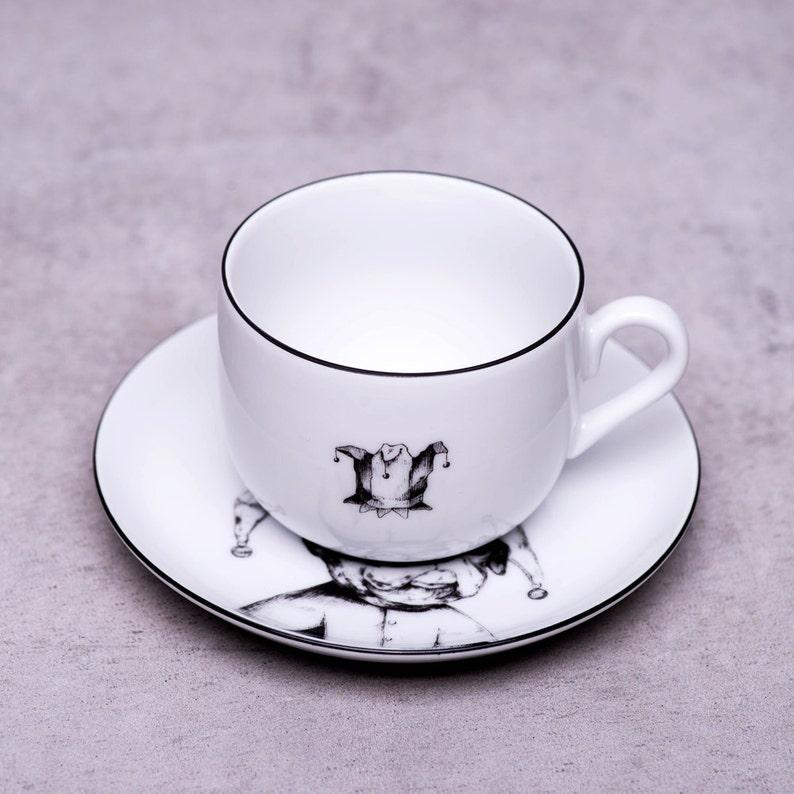 French bulldog tea cup, Bulldog art, White porcelain tea set, Personalized  tea cups, Cups and saucers, Joker, Teacup, Kitchen decor