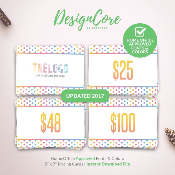 new 2017 pricing card home office approved price signs etsy