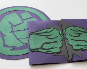Hulk Party invitations | Avengers Superhero Invitations | Other Colors Available