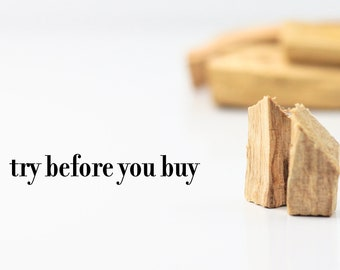 Sample Palo Santo - Try Before You Buy -Palo Santo Wood for Energy Cleansing, Crystal Cleansing, Palo Santo Smudge Sticks. Holy wood.