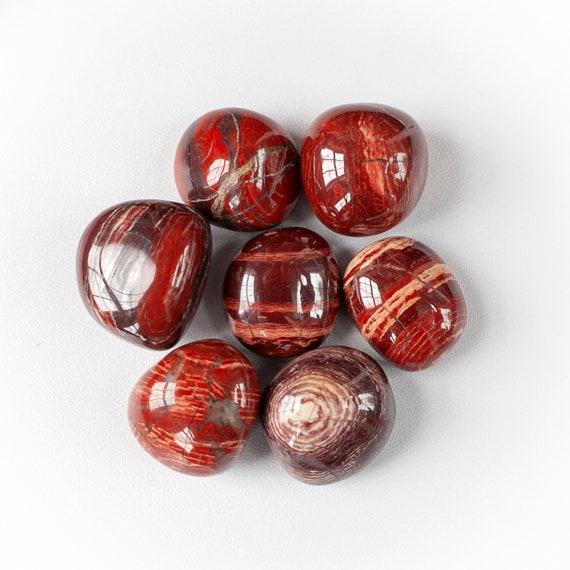 Red Jasper, Red Line Jasper Tumbled Stones  Root Chakra Stones, Healing  stones, Earth Energy  Red Stones, red vein jasper, positive vibes