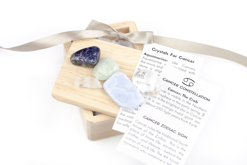 Cancer Zodiac Gift Crystals Stones For Sign Fun