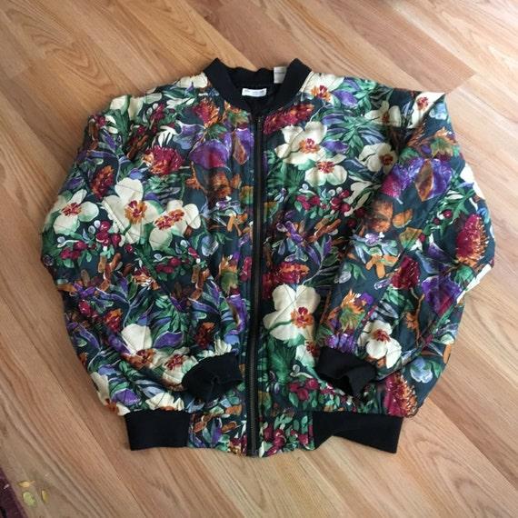 90's Robert Stock Limited Silk Bomber Jacket