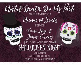 Skull wedding invite | Etsy