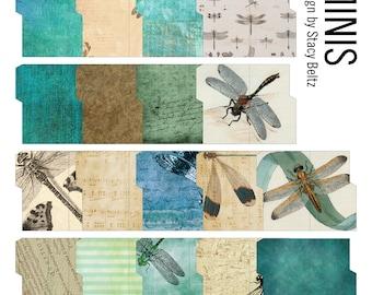 Dragonfly Dreams Mini File Folders Digital Print