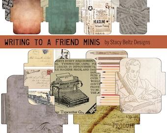 Writing to A Friend Mini Envelopes Digital Print