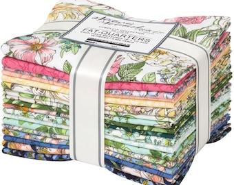 Nature's Notebook Fat Quarter Bundle, Quilting Cotton, floral fabric