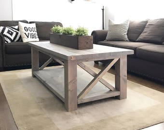Attirant Rustic Coffee Table|Farmhouse Coffee Table