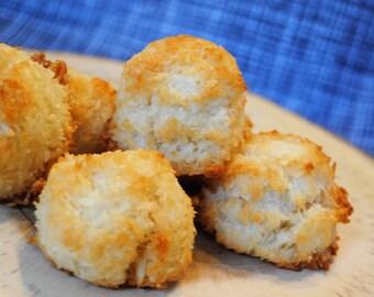 12 Coconut Haystack Macaroons, sweet, crunchy, vanilla