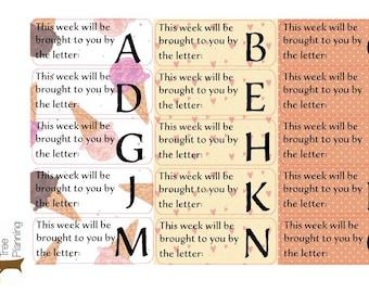 BIG Happy Planner - Letter of the Week - Preschool Teacher Stickers