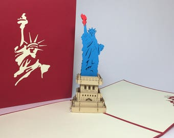 Statue Of Liberty Pop Up Card Independence Day