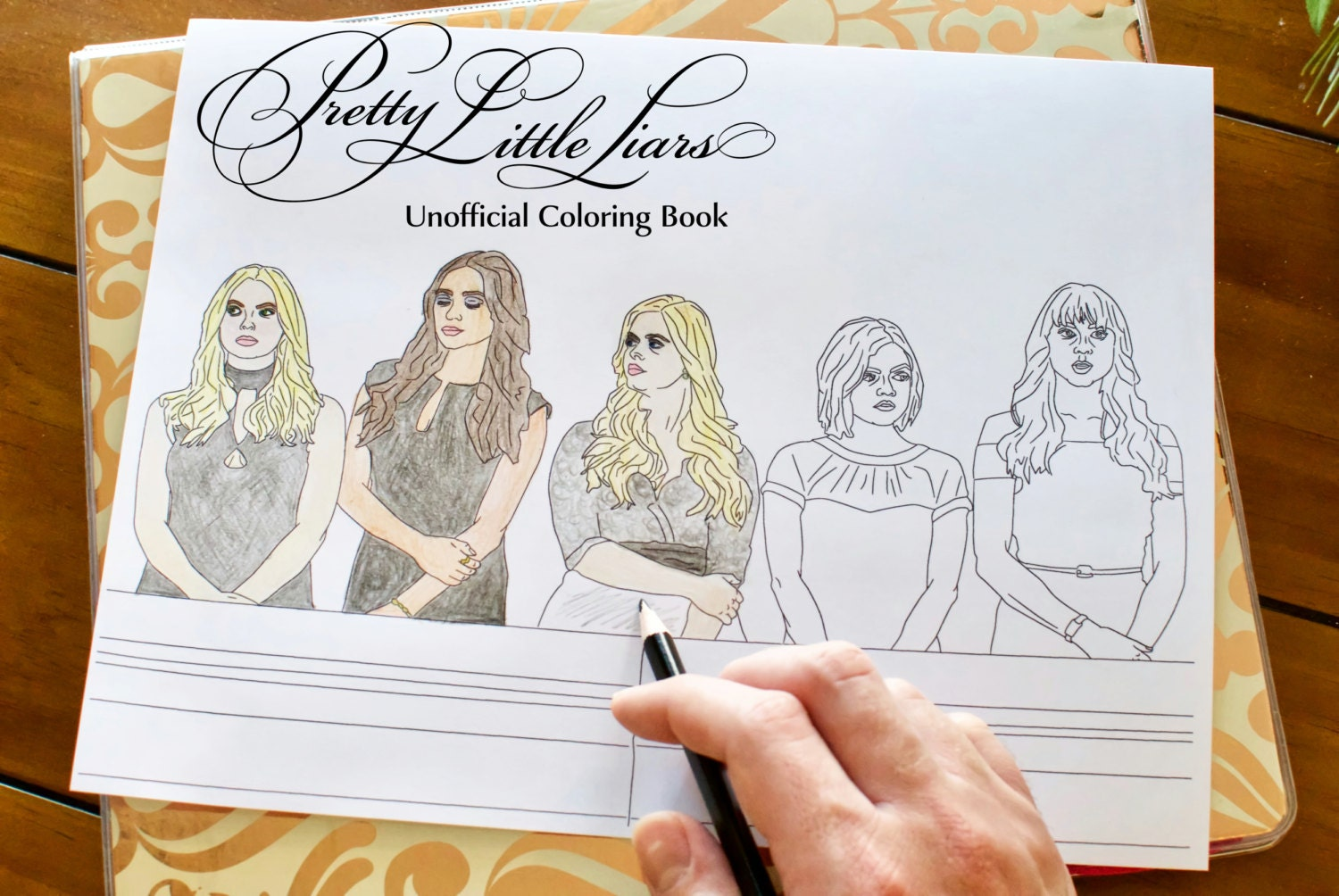 Pretty Little Liars Coloring Book Unofficial Printable
