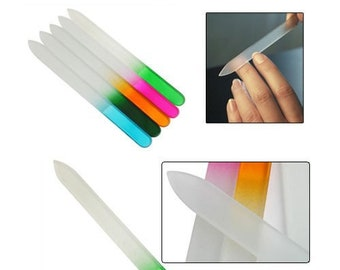 GLASS Nail File from the case Bulk Nail File Boat  Straight  Nail Art Manicure Sanding Buffer Professional Tool For Nails
