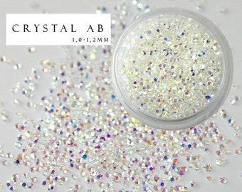 1440 pcs Pixie Crystal AB Chameleon Type Swarovski Rhinestones Nail Art Trendy Fashion Popular Style Crystals Micro Zircon Mini Beads