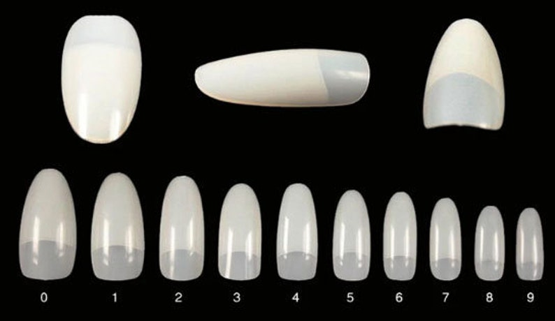 438039a5b8f 100-500pcs Almond Nail Shape Oval Stiletto Full Cover False Tips Clear  Natural Fingernail Manicure Acrylic gel DIY Pointy fake nails long