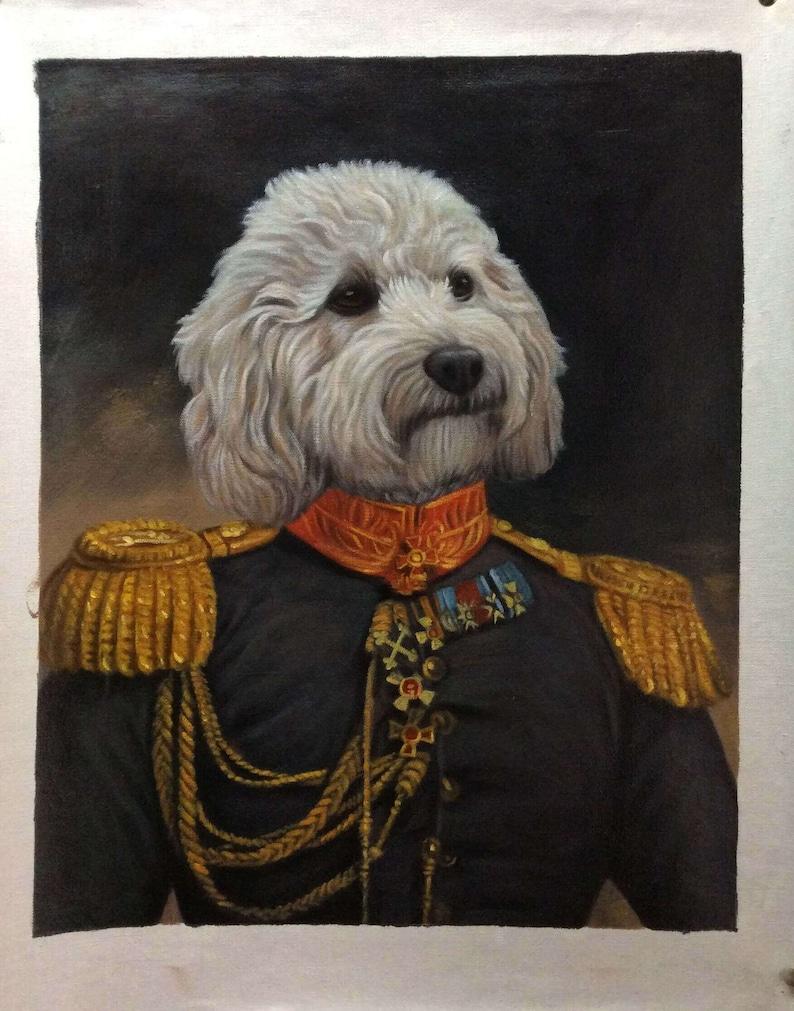 Dog portrait customCustom pet paintingRenaissance dog image 0
