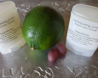 Cranberry Lime Perfume Solid