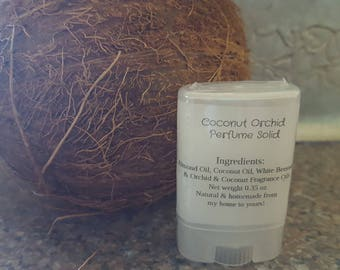 Coconut Orchid Perfume Solid